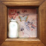 Sarah Malone  - boxed porcelain bottle with butterfly