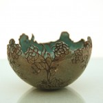 sandblasted earthenware cup